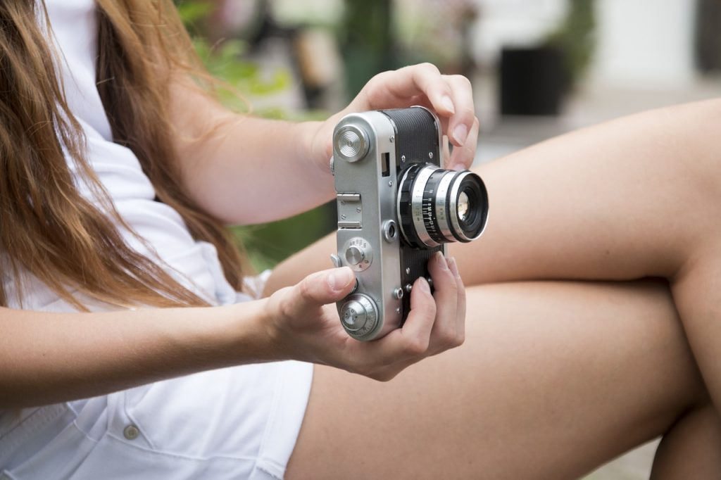 girl, camera, photography